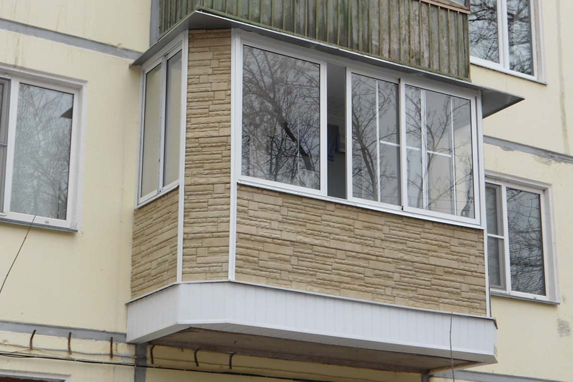 Наружная отделка балкона..